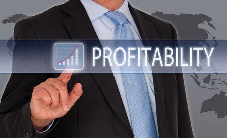Profitability - businessman with revenue curve