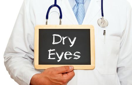 Dry Eyes - Doctor with chalkboard
