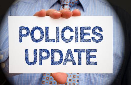 Photo pour Policies Update - image libre de droit