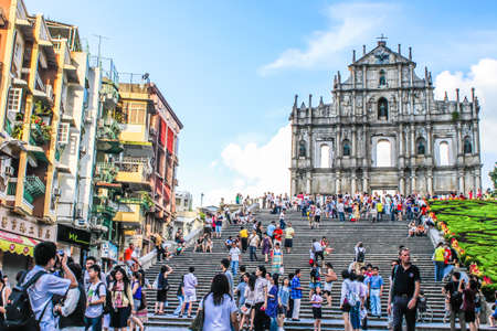 Macau - July,31 2010 : Ruin of St. Paul's church was considered as the greatest church in Macua.