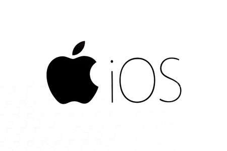 Photo pour Bangkok, Thailand - October 29, 2016: Operating system Apple IOS logo on paper. - image libre de droit