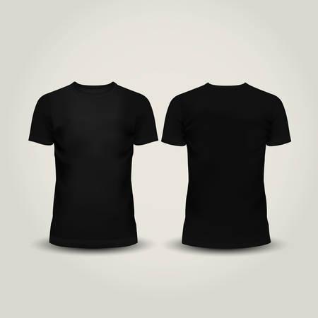 Vector illustration of black men T-shirt isolated