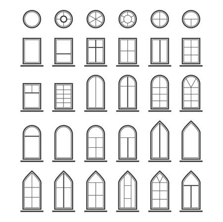 Different types of windows.