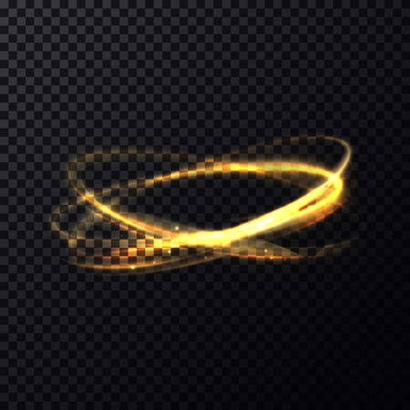 Radiance or luminosity of crossed rings or circles. Fading flare or flash on transparent background. Bokeh effect through lens. Perfectly fit for celebration or science brochure, poster template