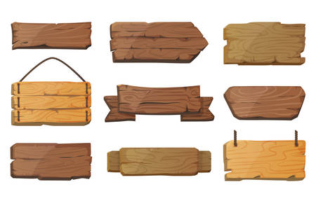 Illustration pour Blank or empty west signboards or wood plank - image libre de droit