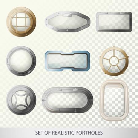 Illustration pour Ship bull s-eye window or porthole for submarine - image libre de droit