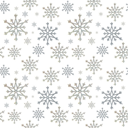 seamless a background from snowflakes on the white