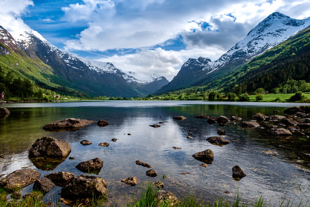 Foto für Beautiful Nature Norway natural landscape. - Lizenzfreies Bild