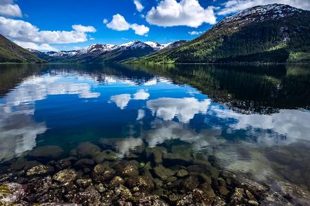 Foto de Beautiful Nature Norway natural landscape. - Imagen libre de derechos