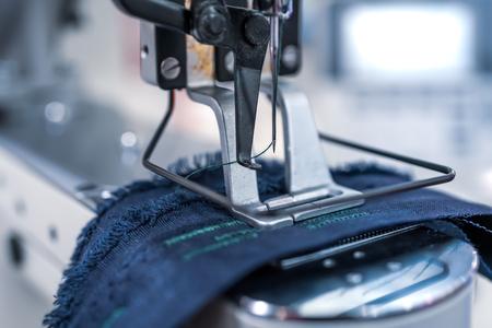 Foto für Professional sewing machine close-up. Modern textile industry. - Lizenzfreies Bild