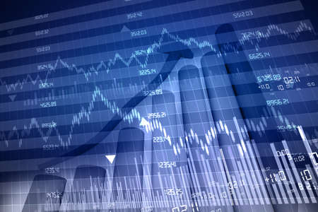 Photo for stock exchange graph - Royalty Free Image
