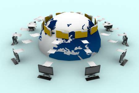 Photo pour Data transfering - image libre de droit