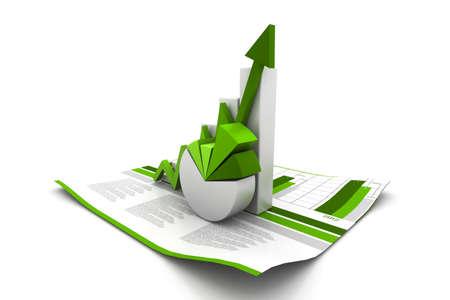 Foto de 3d business growth graph - Imagen libre de derechos