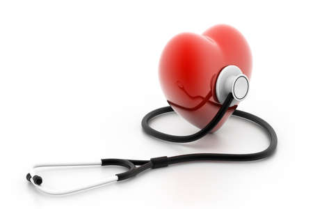 Photo for heart and stethoscope - Royalty Free Image