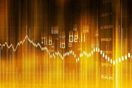 Photo pour Stock Market Graph and Bar Chart - image libre de droit