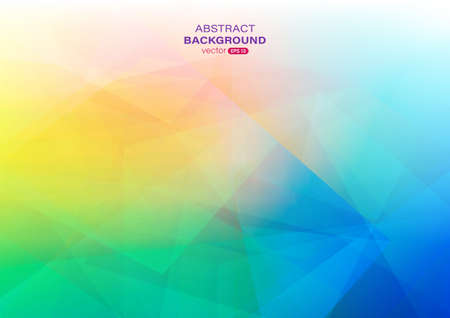 Illustration pour Colorful gradient abstract background with geometric shape composition. Vector illustration - image libre de droit