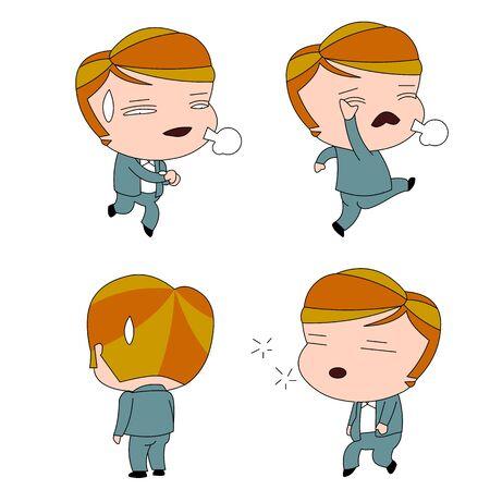 Illustration pour Humorous and comical character, illustration set. - image libre de droit