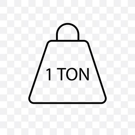 Ilustración de Tonne vector icon isolated on transparent background, Tonne logo concept - Imagen libre de derechos