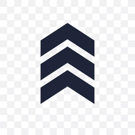 Ilustración de chevrons transparent icon. chevrons symbol design from Army collection. - Imagen libre de derechos