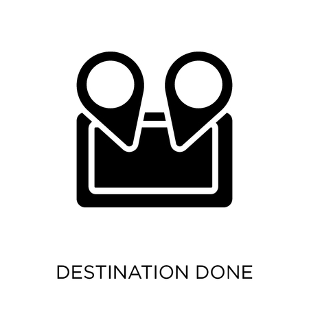 Destination done icon. Destination done symbol design from Maps and locations collection. Simple element vector illustration on white background.