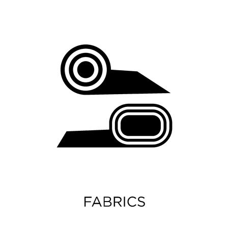Illustration pour Fabrics icon. Fabrics symbol design from Sew collection. Simple element vector illustration on white background. - image libre de droit