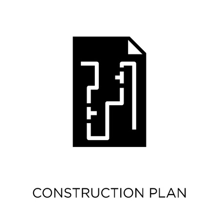 Construction plan icon. Construction plan symbol design from Construction collection. Simple element vector illustration on white background.