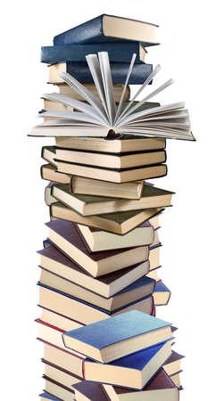 Photo for isolated image of many books on white background - Royalty Free Image
