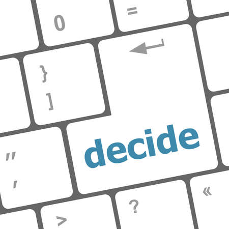 decide button on computer pc keyboard key