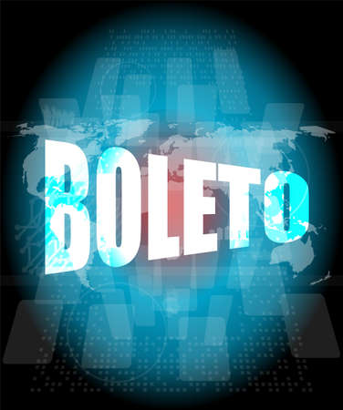 Backgrounds touch screen with boleto word