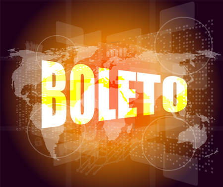 Backgrounds business touch screen with boleto word