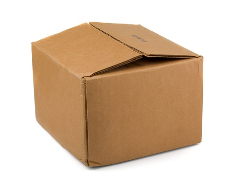 Brown cardboard  box isolated on white