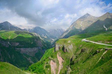 Caucasus mountains. Georgian Military Road. Georgia