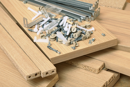Photo for Close up of assembly furniture kit - Royalty Free Image