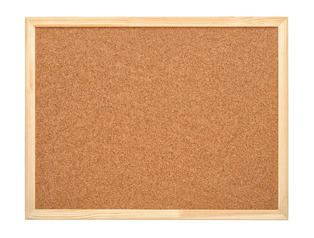 Foto de Blank cork board with wood frame isolated on white - Imagen libre de derechos