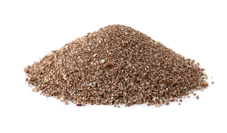 Photo pour Pile of vermiculite isolated on white - image libre de droit