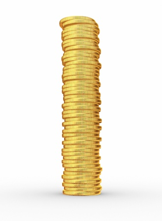 Stack of coins  This is a 3d render illustration