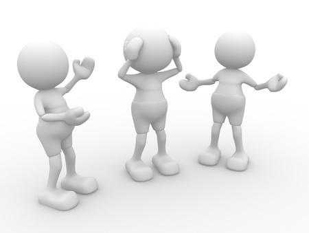 3d people - men, person  talking  Conversation