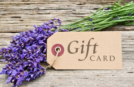 lavender and gift card