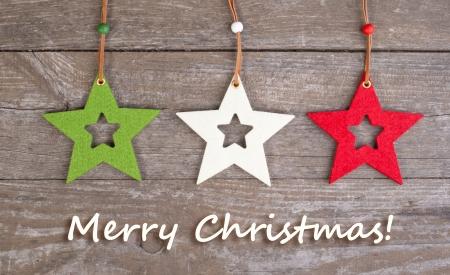 christmas card with christmas stars