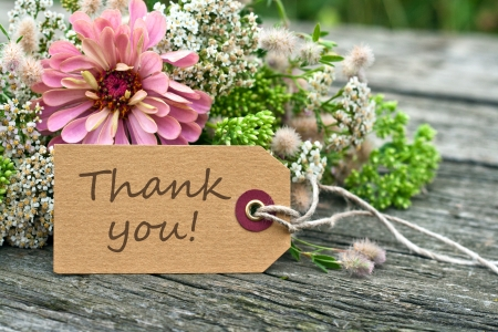 thank you, thanks, mothers day, green, flower, smell, scented,  Beauty, gift, present, bouquet, summer,  card, paper,   pink,  green, leaf,   lambsquarter,  chenopodium album, sedum, yarrow, achillea millefolium, zinnia, writing, text, writing, lettering,