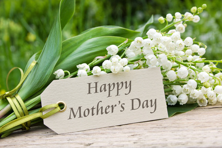 Mother s day card with Lily of the valley