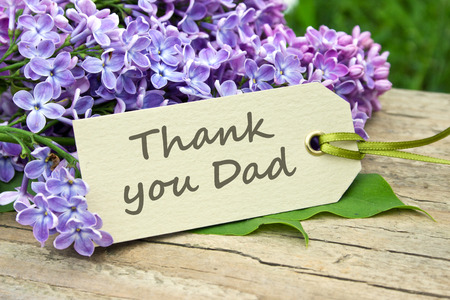 english Father s Day card with lilac