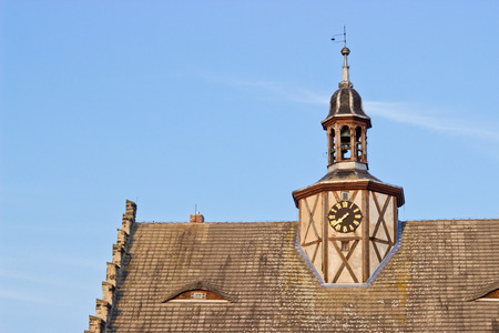 City Hall of  Sch nebeck Salzelmen with Clock tower