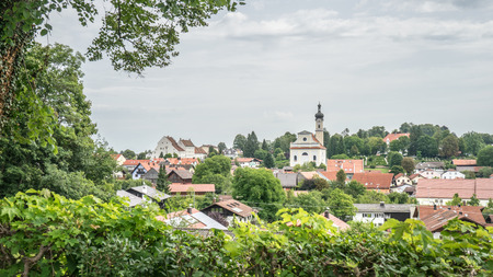 View of the beautiful city Murnau in Bavaria, Germany