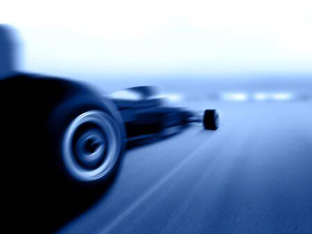 speeding formula race car