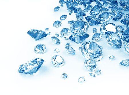 blue diamonds on white background