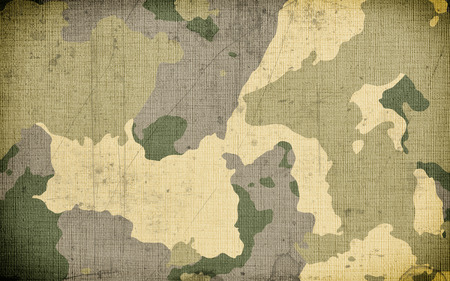 Photo for Dirty camouflage fabric texture background - Royalty Free Image