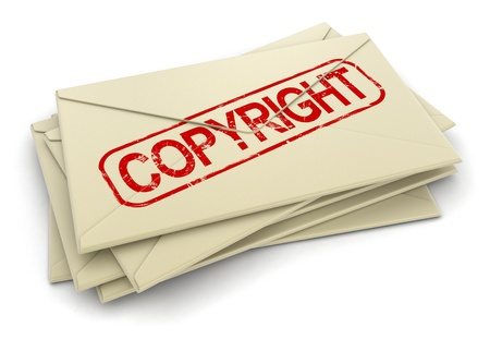 copyright letters  clipping path included