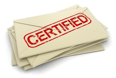 certified letters