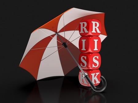 Dices with Risk under Umbrella